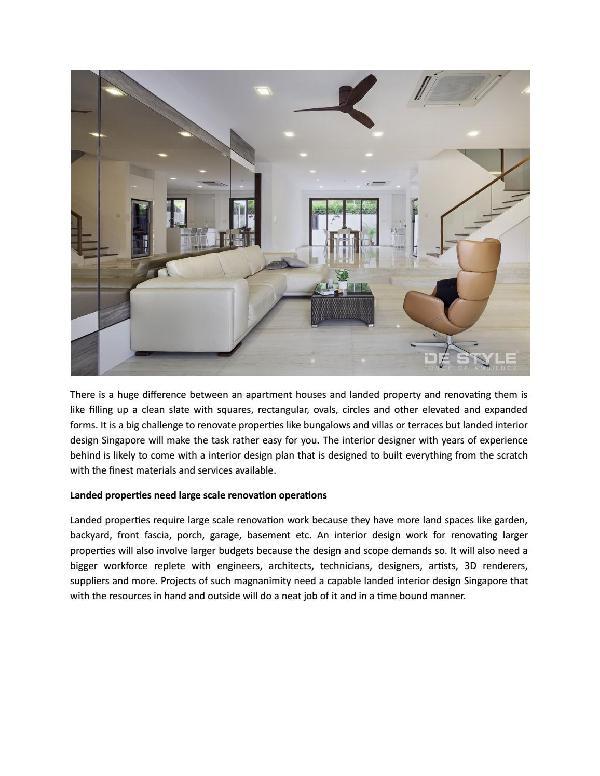 delegate landed interior design singapore if you have landed property to renovate