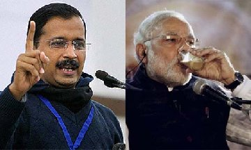now kejriwal dares pm modi to prove he was a chaiwala by making chai