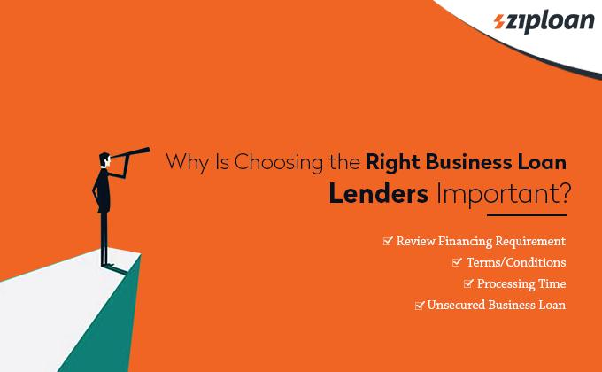 why is choosing the right business loan lenders important