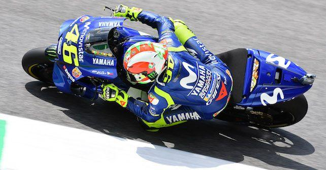 motogp 2018 valentino rossi breaks mugello lap record to take pole for italian grand prix