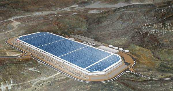 this is the enormous gigafactory where tesla will build its future