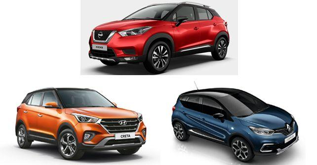 nissan kicks vs hyundai creta vs renault captur comparison