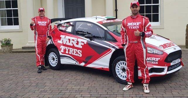 wrc 2018 gaurav gill tests newly revealed mrf tyres m sport ford fiesta r5 ahead of rally italia sardegna