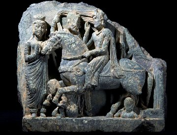 buddhist sculptures discovered in ruins of ancient shrine