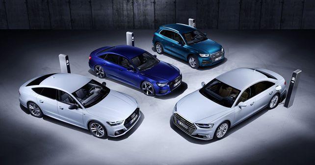 audi a6 a7 a8 and q5 tfsi e plug in hybrids revealed