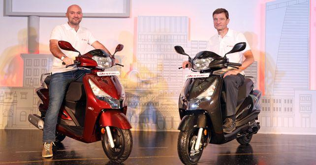 hero destini 125 launched in india at 54 650