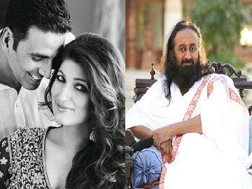 art of living or intimidation twitter backs twinkle khanna for joke on sri sri firstpost
