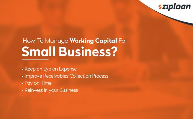 how to manage working capital for small business