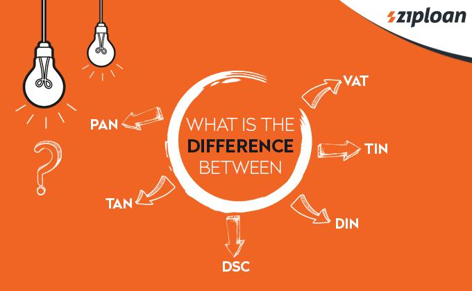 what is the difference between pan vat tin tan dsc and din