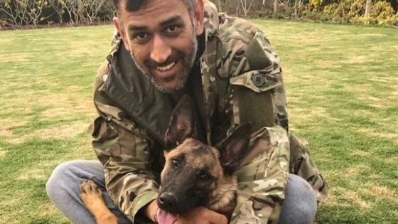 ms dhoni is back after his stint with his territorial army unit