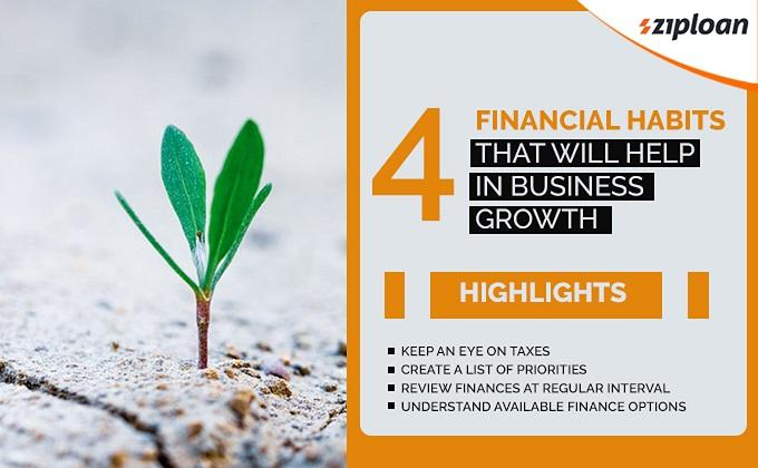 what financial habits will help in managing business growth